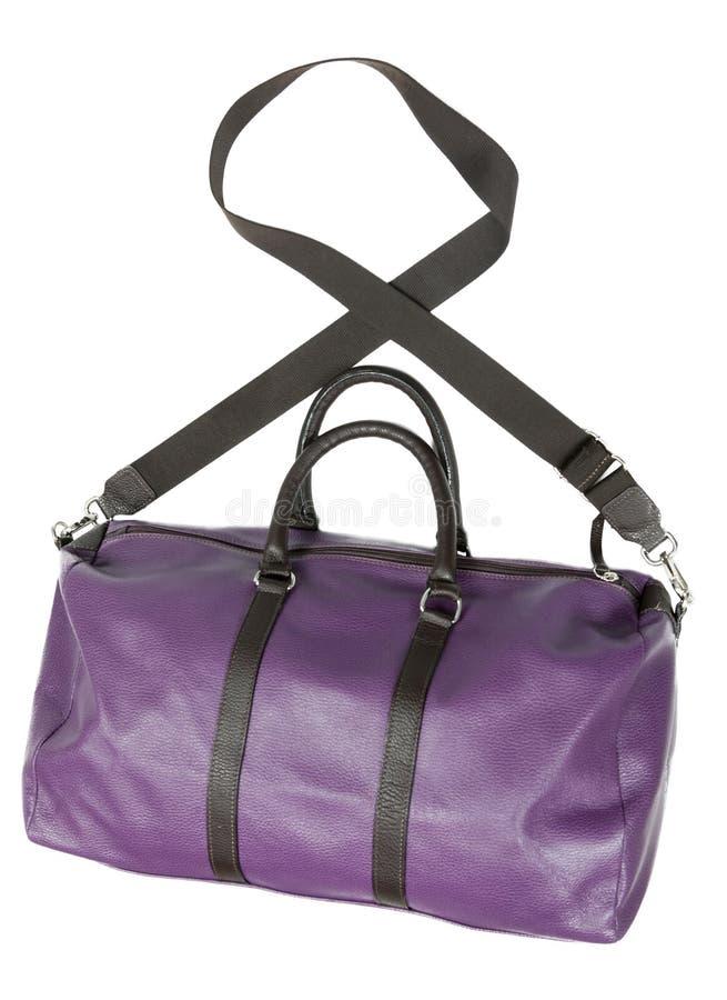 Bolso violeta del camino fotografía de archivo libre de regalías