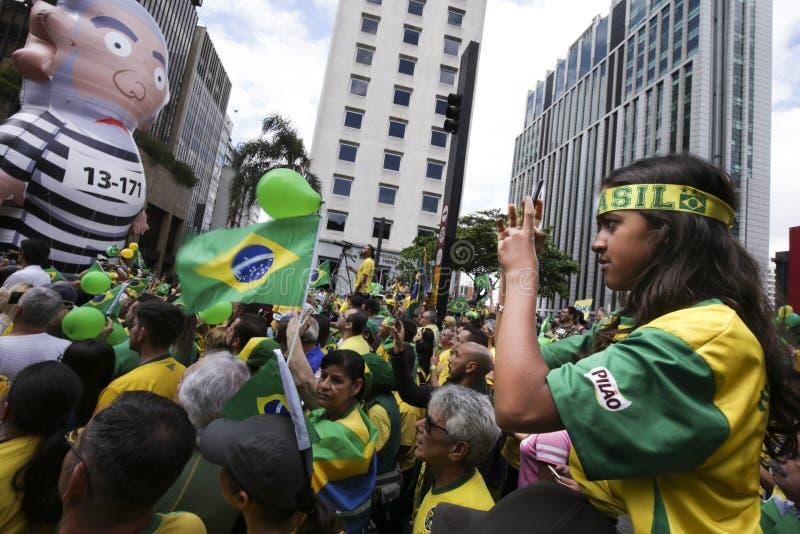 Bolsonaro政治集会10月 2018年 库存图片