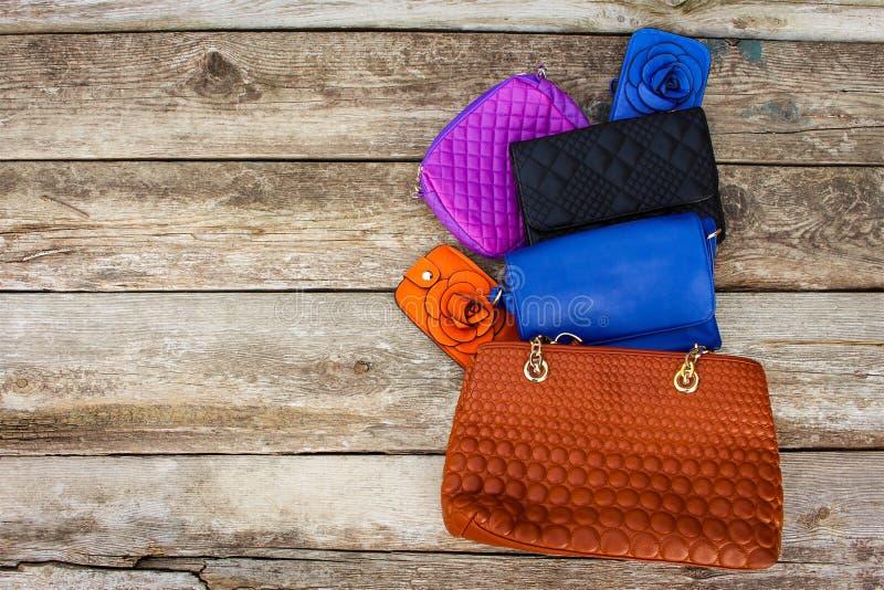 Bolsos coloreados imagen de archivo libre de regalías