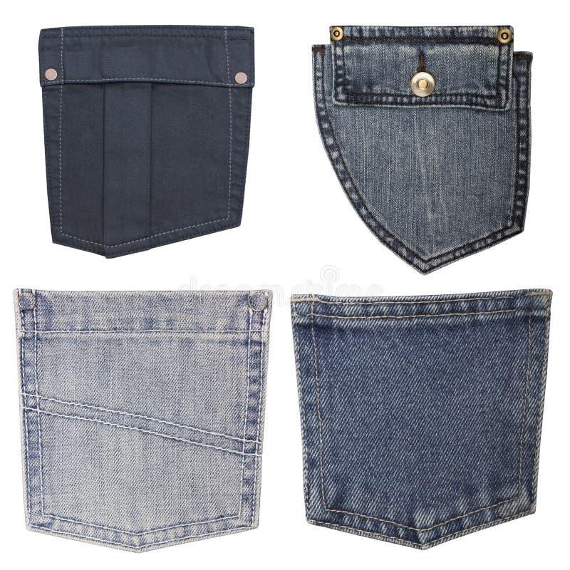 Bolsos das calças de brim imagens de stock royalty free