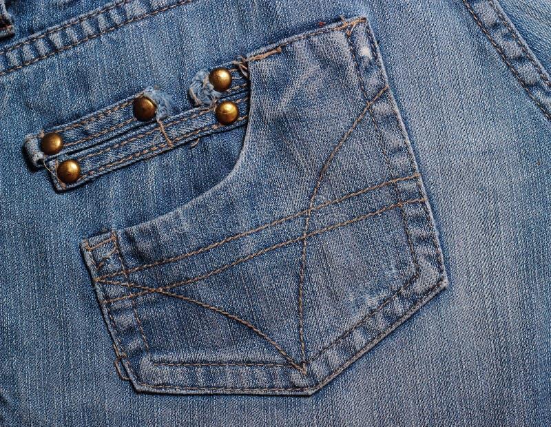 Bolsos das calças de brim textured imagens de stock royalty free