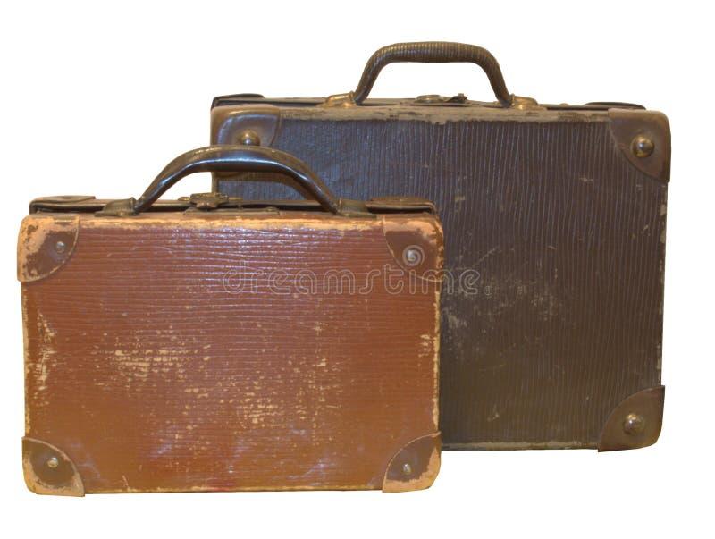 Bolsos de cuero viejos imagenes de archivo
