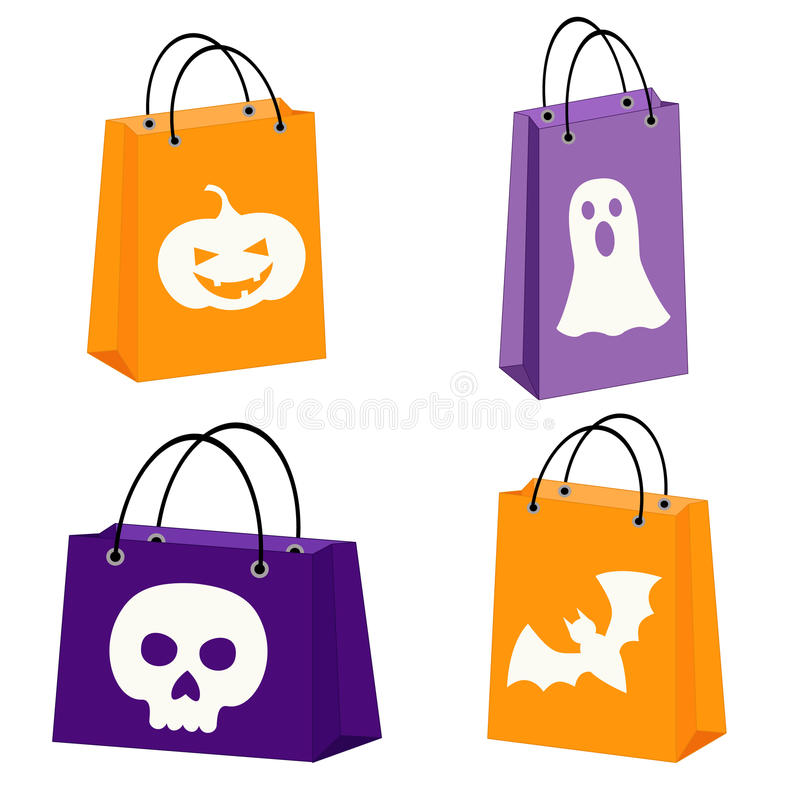 Bolsos de Halloween stock de ilustración