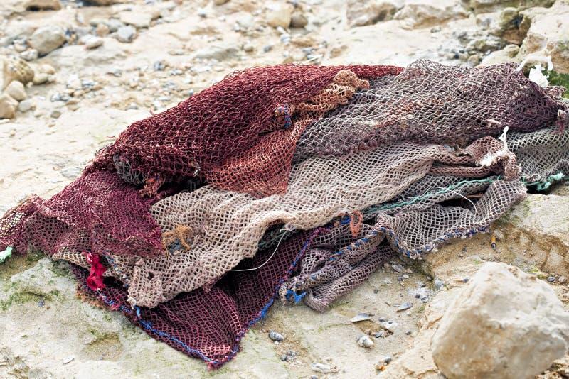 Bolsos de la red de pesca foto de archivo