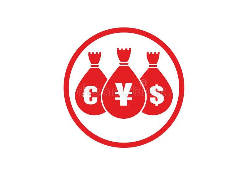 Bolsos del dinero ilustración del vector
