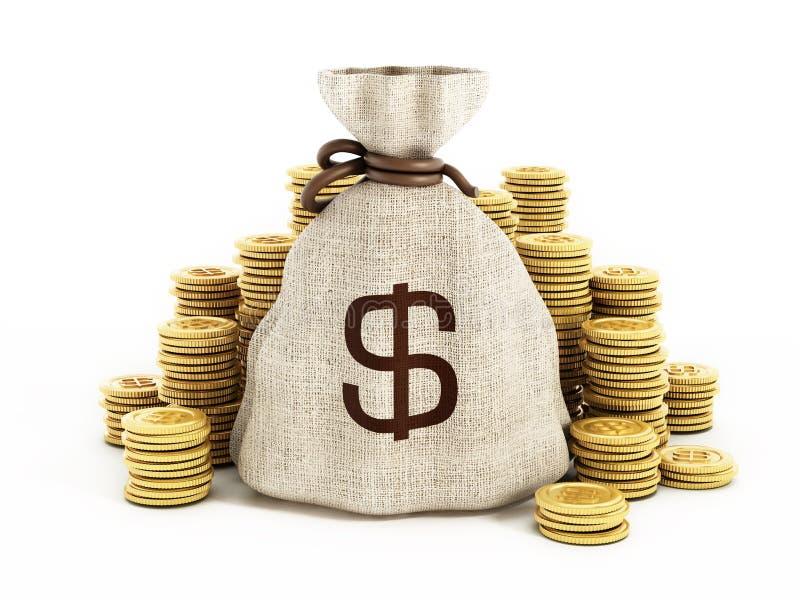 Bolsos del dinero con la reflexión libre illustration