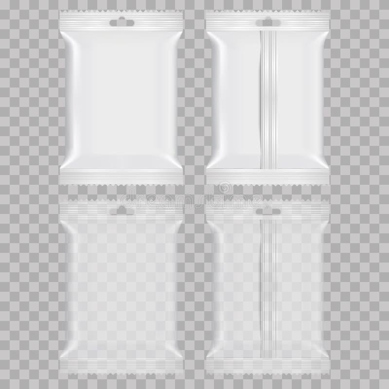 Bolsos realistas de la almohada del bocado de la comida Mofa para arriba Vector libre illustration