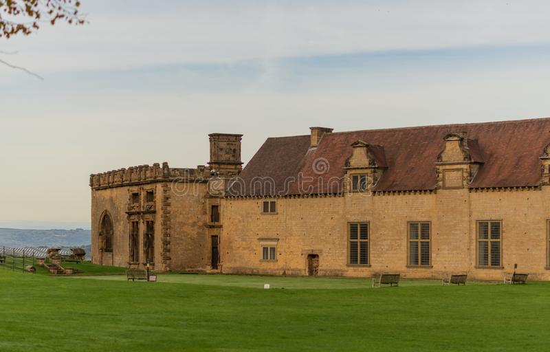 BOLSOVER, UK - 7TH OCTOBER 2018: The front grounds of Bolsover Castle stock photography