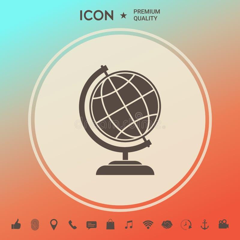 Bolsymbool - Aardepictogram stock illustratie