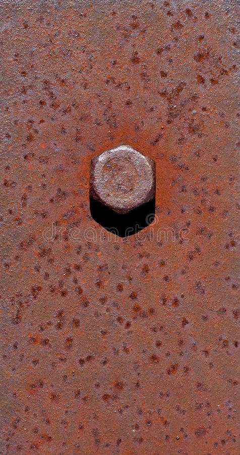 Bolt. Head on old rusty metal stock images