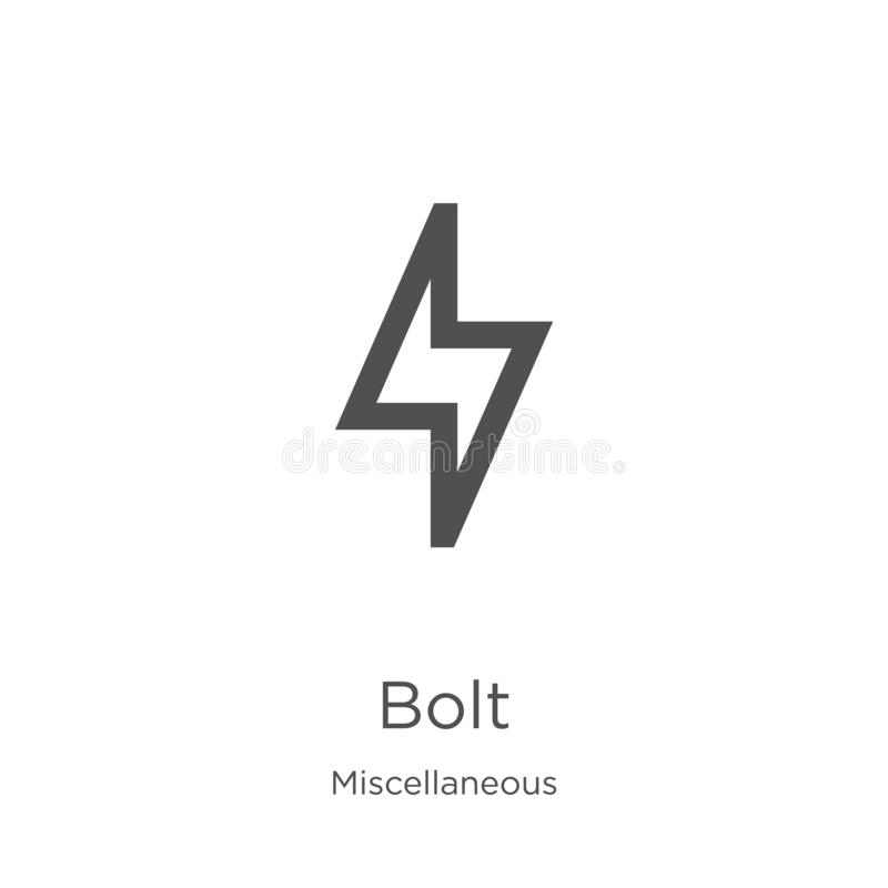 Bolt Icon Vector From Miscellaneous Collection Thin Line Bolt Outline Icon Vector Illustration Outline Thin Line Bolt Icon For Stock Vector Illustration Of Thunderbolt Bolt 144091770
