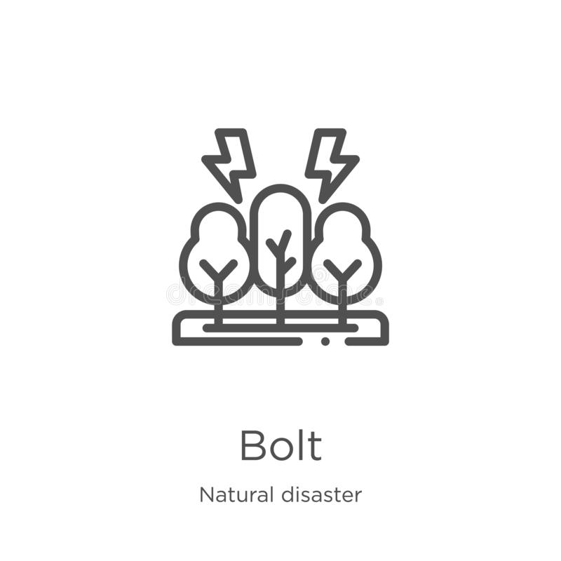 Bolt Icon Vector From Natural Disaster Collection Thin Line Bolt Outline Icon Vector Illustration Outline Thin Line Bolt Icon Stock Vector Illustration Of Element Flash 145619193