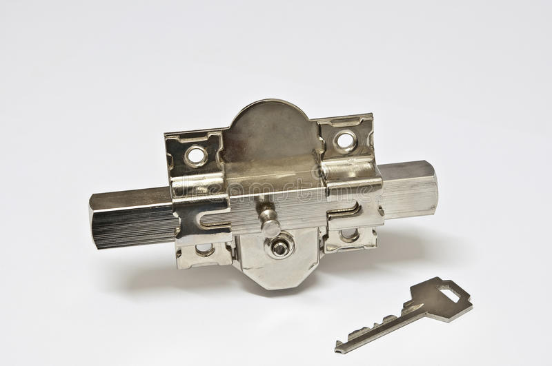 Bolt and key (I). Picture of a bolt and key royalty free stock photography