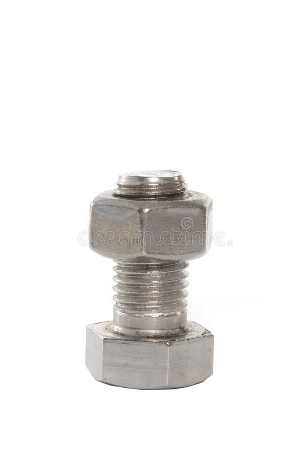 Download Bolt with nut stock image. Image of white, isolated, bolt - 6171293
