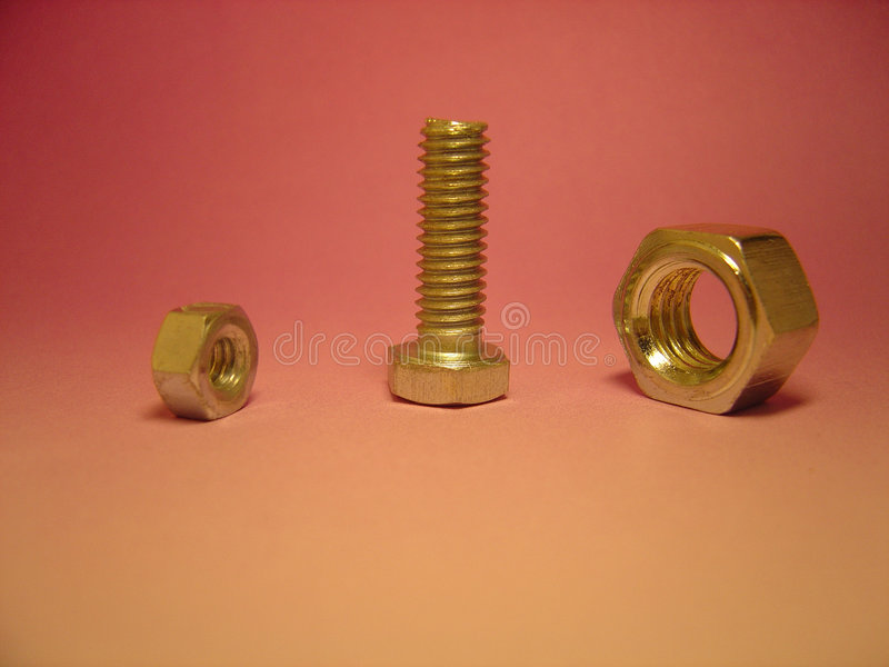 Download Bolt & nuts stock image. Image of minor, mixture, stand - 24863