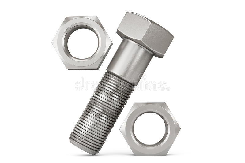 Bolt and Nuts as Percentage Symbol royalty free stock photos