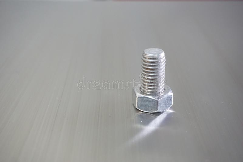 Bolt on stainless. Textures background in black and white tone royalty free stock photo