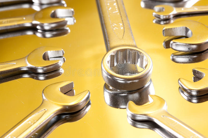 Download Bolt and wrench stock photo. Image of yellow, hardware - 12316556