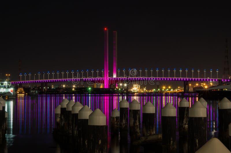 Bolte-Brücke an den Docklands in Melbourne lizenzfreie stockfotografie