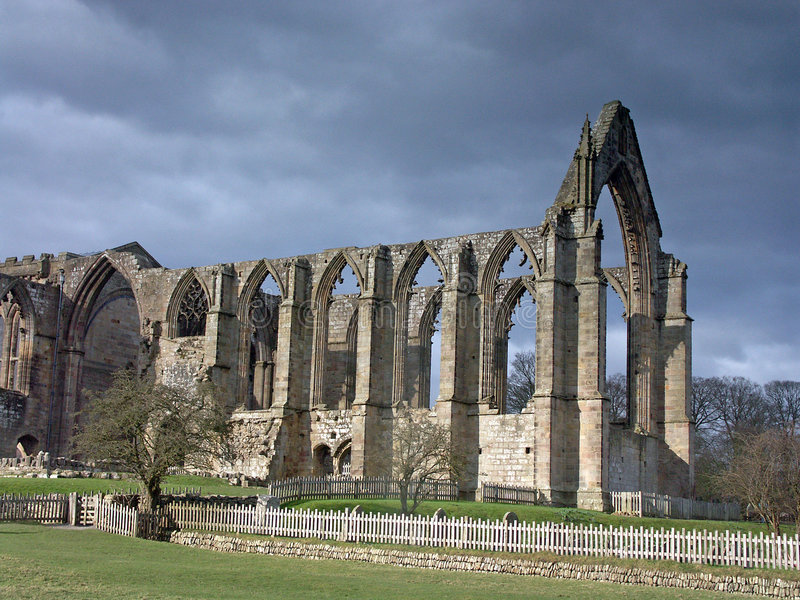 Download Bolton Abbey stock image. Image of fence, windows, medieval - 791353