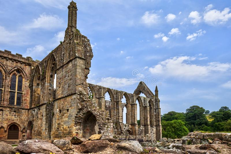 Bolton Abbey in North Yorkshire. stock photography
