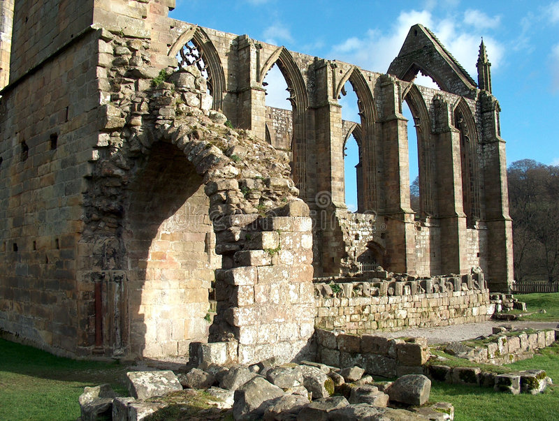 Download Bolton Abbey - rear view stock photo. Image of british - 549698