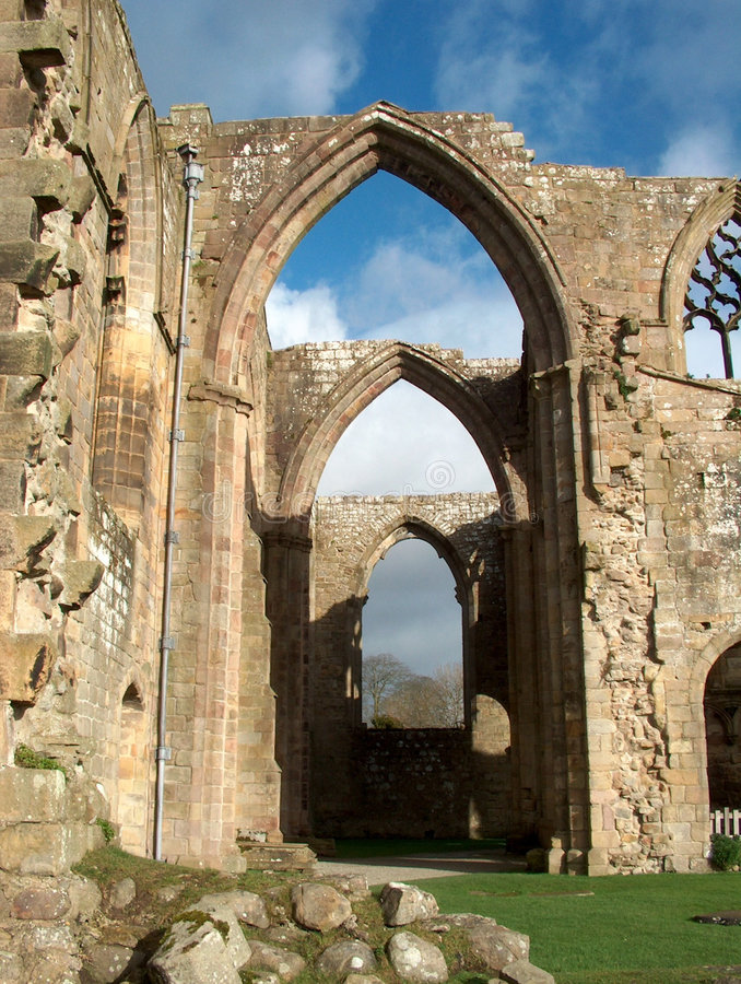 Download Bolton Abbey - Row Of Arches Stock Photo - Image: 549702