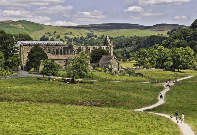 Bolton abbey stock image