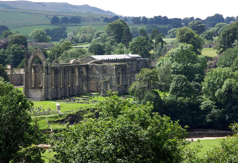 Bolton Abbey Yorkshire Dales stock photo