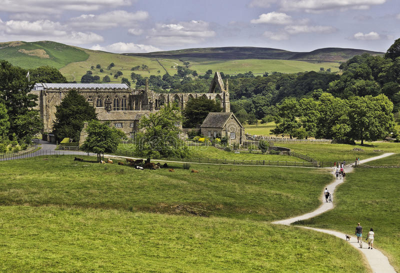 Bolton abbotskloster fotografering för bildbyråer