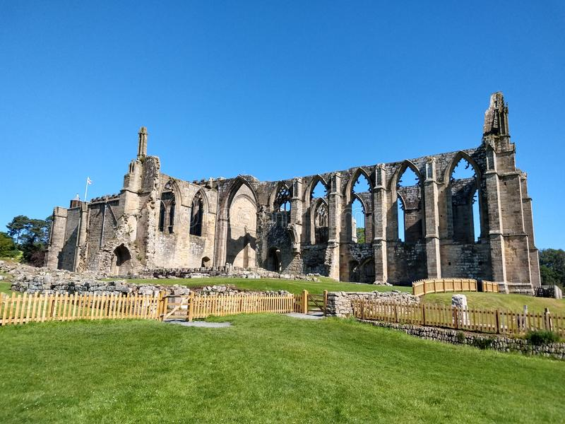 Bolton abbotskloster, Wharfedale, North Yorkshire, England fotografering för bildbyråer