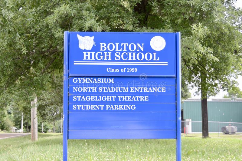 Bolton High School Class of 1999, Bolton, TN. Bolton High School class of 1999 is part of the Bolton City Schools district serving students in the Tennessee city stock photo