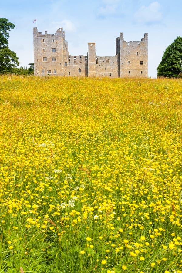 Bolton slott i North Yorkshire royaltyfria foton