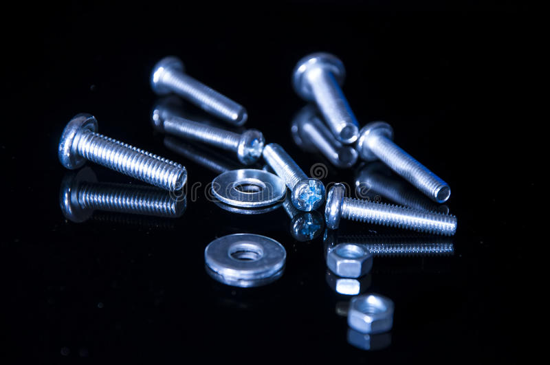 Bolts and screws stock photography