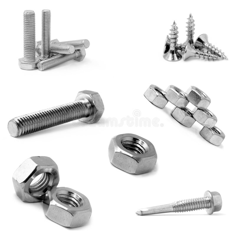 Download Bolts, screws and nuts? stock photo. Image of screws, industrial - 1952026