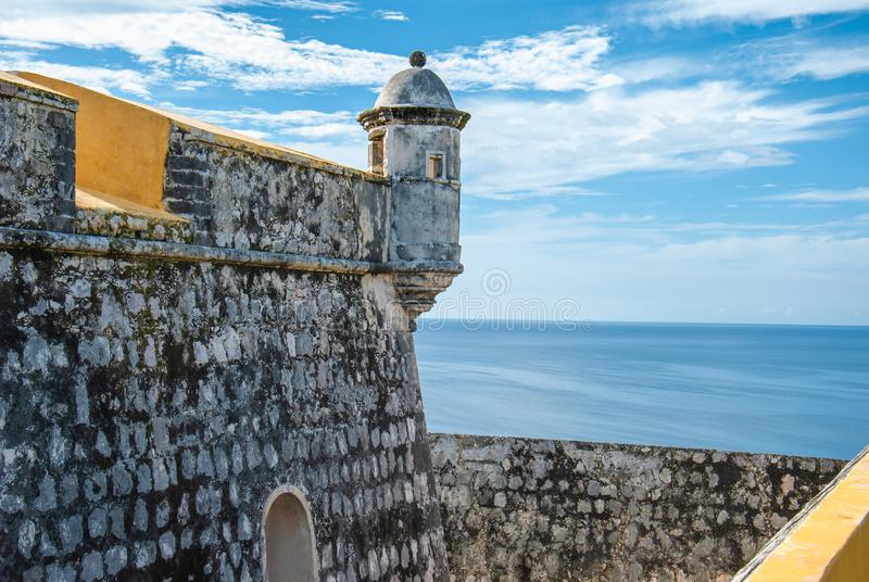 Bolwerk van Fuerte DE San Miguel in Campeche Mexico stock foto's