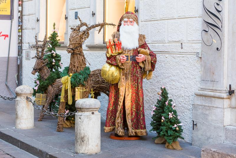Bolzano en janvier 2017 Marché traditionnel de Noël du cente photographie stock