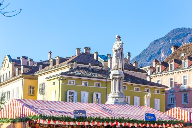 Bolzano en janvier 2017 Marché traditionnel de Noël du cente photos libres de droits
