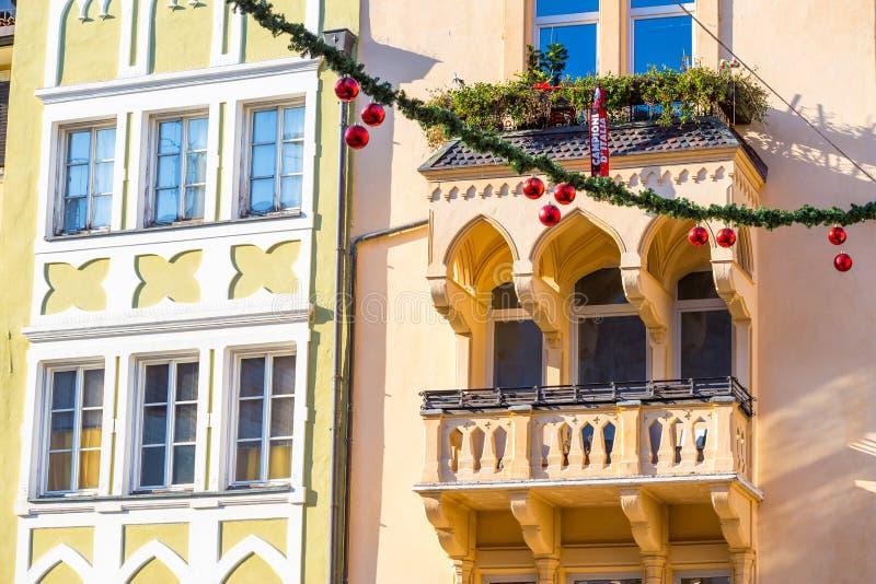 Bolzano en janvier 2017 Marché traditionnel de Noël du cente images libres de droits