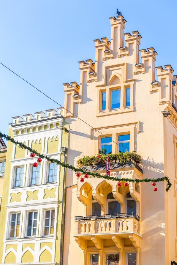 Bolzano en janvier 2017 Marché traditionnel de Noël du cente images stock