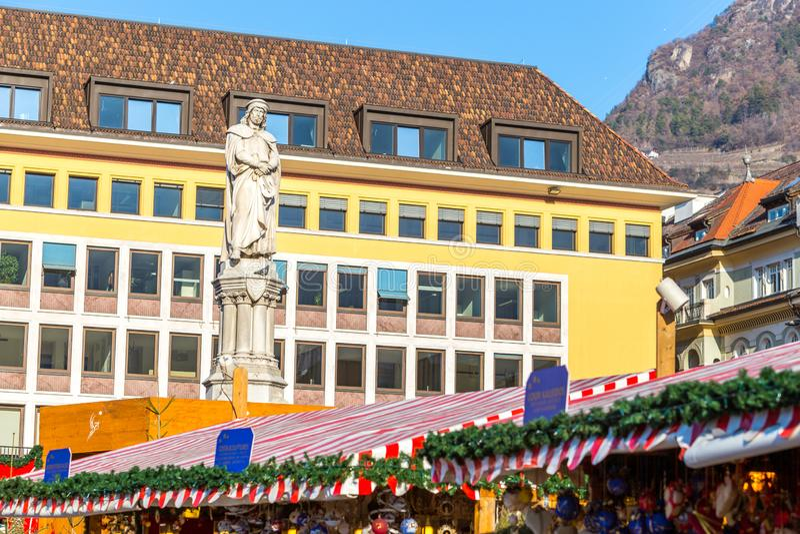Bolzano en janvier 2017 Marché traditionnel de Noël du cente photo libre de droits