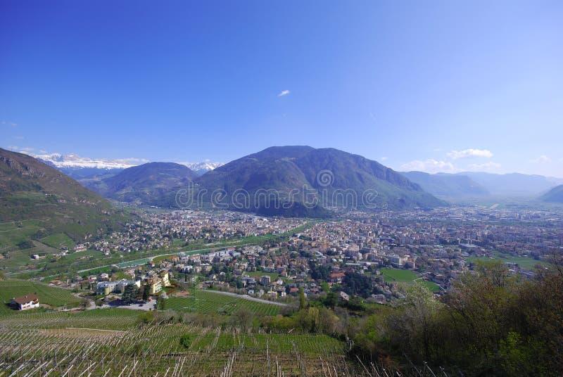 bolzano italy panorama royaltyfria bilder