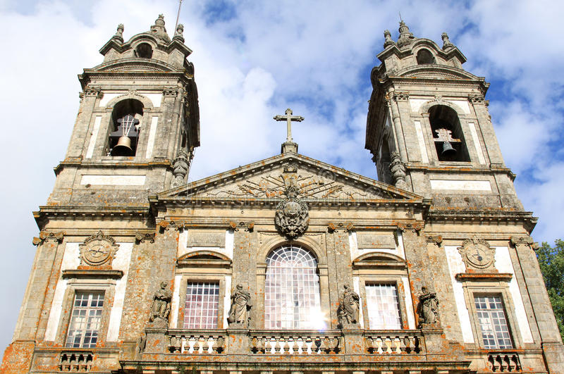 bom拉格在葡萄牙圣所附近执行耶稣monte 图库摄影