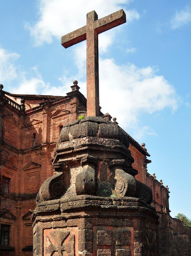 bom耶稣受难象goa印度耶稣 免版税库存照片