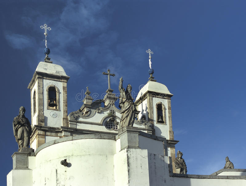 Bom耶稣教会在Congonhas,分钟状态做Matozinhos 库存照片