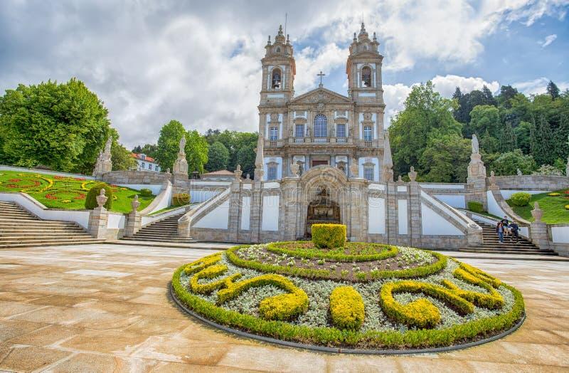 Bom耶稣新古典主义的大教堂在拉格,葡萄牙做Monte 图库摄影