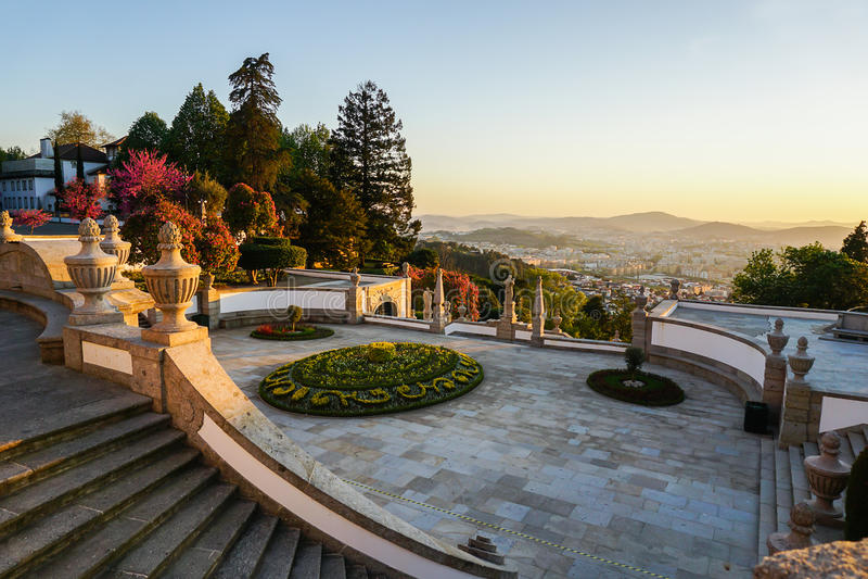Bom Ιησούς Do Monte, Braga, Πορτογαλία στοκ εικόνα με δικαίωμα ελεύθερης χρήσης