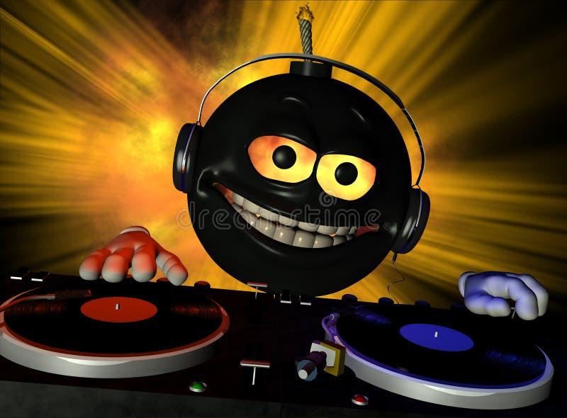 Bom 1 van DJ vector illustratie