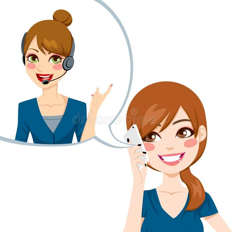 Bom agente do serviço ao cliente ilustração stock