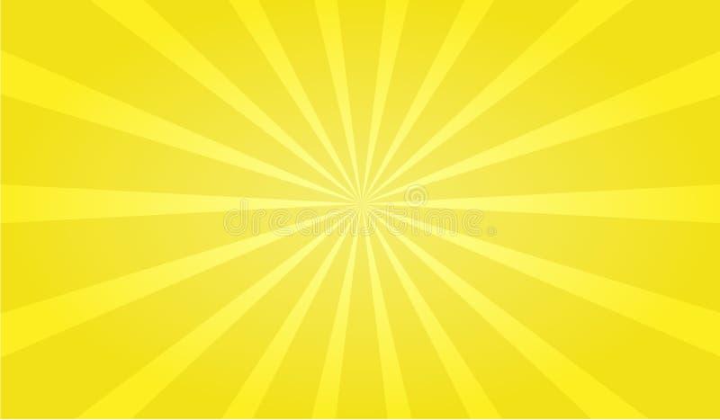 Bom bourdonnent fond jaune illustration stock